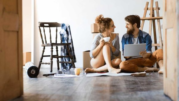 Husband and wife deciding on the best mortgage option