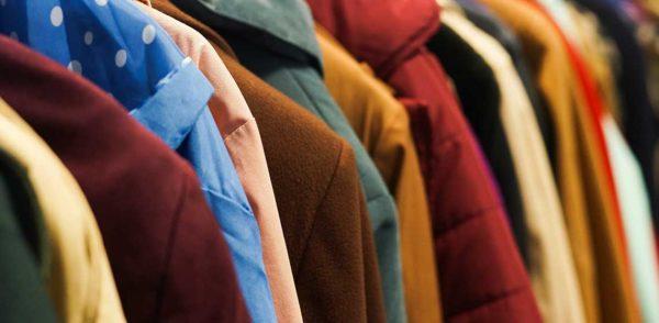 Rack of coats for Coat Drive